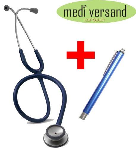 Stethoskop Littmann Classic II S.E. + Diagnostikleuchte aus Metall, Farbe marineblau
